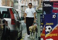 Educateur spécialisé et chien guide