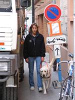 Educatrice spécialisée et chien guide